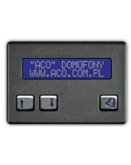 ACO CDN-230E ST Elektroniczna, alfabetyczna lista lokatorów
