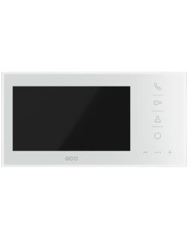 ACO GLASS-PRO-7 WH Wideomonitor cyfrowy do systemu PRO, głośnomówiący ze szklanym frontem i kolorowym wyświetlaczem 7