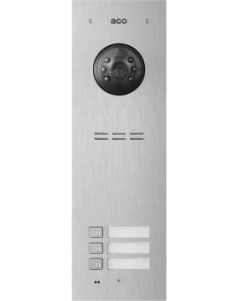 ACO COMO-PRO-V3 Wideodomofon cyfrowy do systemu PRO, ze zbliżeniowym czytnikiem breloków i 3 przyciskami dzwonienia