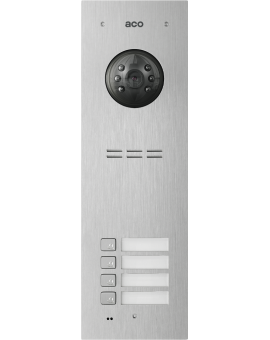 ACO COMO-PRO-V4 Wideodomofon cyfrowy do systemu PRO, ze zbliżeniowym czytnikiem breloków i 4 przyciskami dzwonienia