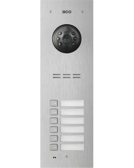 ACO COMO-PRO-V6 Wideodomofon cyfrowy do systemu PRO, ze zbliżeniowym czytnikiem breloków i 6 przyciskami dzwonienia