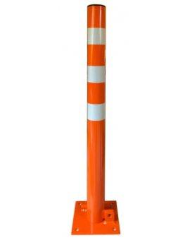 Słupek parkingowy składany, ręczna blokada parkingowa fi 60, 3 H-800 mm pomarańczowy