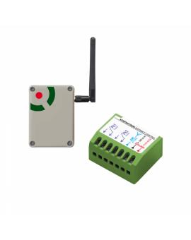 Proxima zestaw kontaktron Distance control dwa czujniki kontaktronowe połączone z centralą alarmową nie przewodem, a dwustronną transmisją radiową dużego (nawet 1km) zasięgu