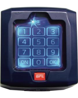 BFT Q.BO TOUCH Bezprzewodowy, dotykowy cyfrowy panel przyciskowy, działający na częstotliwości 433 MHz, kod zmienny