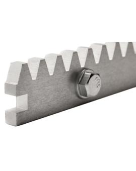 Listwa metalowa zębata z zamkiem galwanizowana do bramy 8x30x1000 mm
