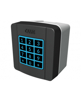Came 806SL-0180 Klawiatura 868,35 MHz radiowa z 12 klawiszami, niebieskim podświetleniem, pamięcią 25 kodów