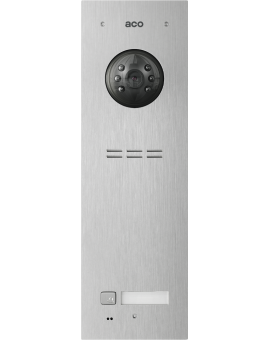 ACO FAM-PV-1NPACC Panel cyfrowy Familio PVACC z 1 przyciskiem, czytnikiem kart zbliżeniowych,  podtynkowy, stal nierdzewna Panel cyfrowy Familio PVACC z 1 przyciskiem, czytnikiem kart zbliżeniowych,  podtynkowy, stal nierdzewna.