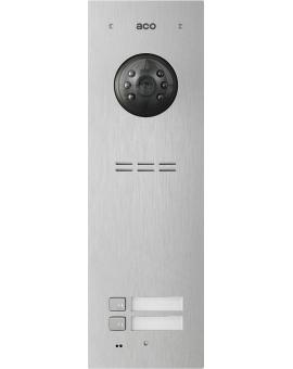 ACO FAM-PV-2NPACC Panel cyfrowy Familio PVACC z 2 przyciskami, czytnikiem kart zbliżeniowych, podtynkowy, stal nierdzewna