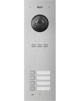 ACO FAM-PV-4NPACC Panel cyfrowy Familio PVACC z 4 przyciskami, czytnikiem kart zbliżeniowych, podtynkowy, stal nierdzewna