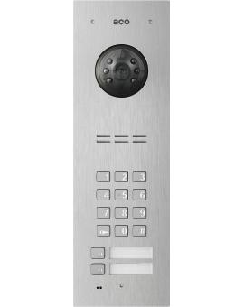 ACO FAM-PV-2NPZSACC Panel cyfrowy Familio PVACC z 2 przyciskami, zamkiem szyfrowym, czytnikiem kart zbliżeniowych, podtynkowy, stal nierdzewna Panel cyfrowy Familio PVACC z 2 przyciskami, zamkiem szyfrowym, czytnikiem kart zbliżeniowych, podtynkowy, stal