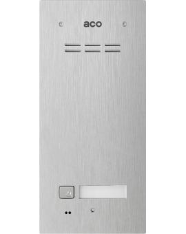 ACO FAM-P-1NPACC Panel cyfrowy Familio z 1 przyciskiem, podtynkowy, z czytnikiem zbliżeniowym stal nierdzewna