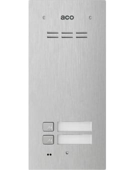 ACO FAM-P-2NPACC Panel cyfrowy Familio z 2 przyciskam, podtynkowy, z czytnikiem zbliżeniowym stal nierdzewna