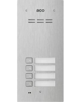 ACO FAM-P-4NPACC Panel cyfrowy Familio z 4 przyciskami, czytnikiem kart zbliżeniowych, podtynkowy, stal nierdzewna