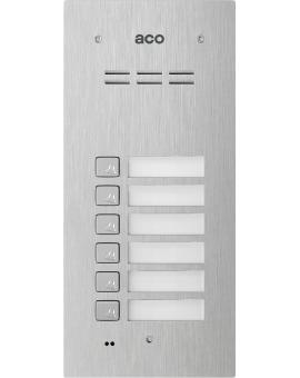 ACO FAM-P-6NPACC Panel cyfrowy Familio z 6 przyciskami, czytnikiem kart zbliżeniowych, podtynkowy, stal nierdzewna