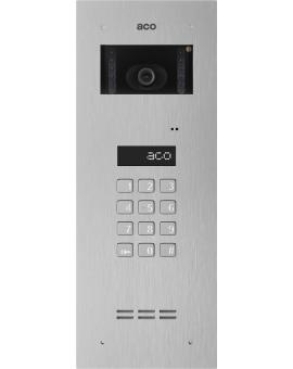 ACO INSPIRO 4+ Centrala Master, do instalacji cyfrowych do 1020 lokali, z wbudowanym modułem kamery kolorowej, stal nierdzewna