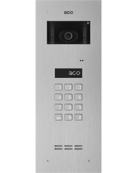 ACO INSPIRO 4S+ Centrala Slave, do instalacji cyfrowych do 1020 lokali, z wbudowanym modułem kamery kolorowej, stal nierdzewna