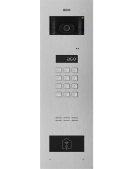 ACO INSPIRO 6S+ Centrala Slave, do instalacji cyfrowych do 1020 lokali, obsługa do 6144 breloków zbliżeniowych z modułem kamery kolorowej, stal nierdzewna