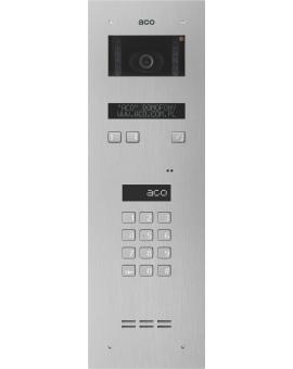 ACO INSPIRO 7+ Centrala Master, do instalacji cyfrowych do 1020 lokali, z wbudowanym modułem kamery kolorowej i elektronicznym spisem lokatorów, stal nierdzewna