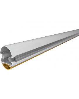 Came G03750 Ramię o przekroju półeliptyczny z aluminium lakierowanego w kolorze białym, wyposażone w profil ochronny rowka i profil gumowy antyuderzeniowy. Długość ramienia: 4 m