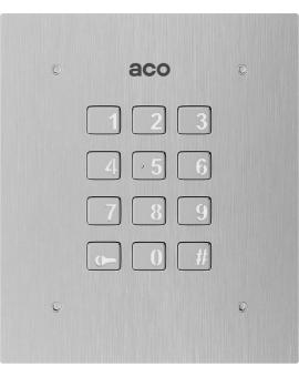 ACO INS-ZS Autonomiczny zamek szyfrowy INSPIRO obsługa do 255 indywidualnych kodów otwierania, białe podświetlenie, dwa niezależnie sterowane wyjścia, stal nierdzewna.