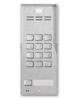 FAM-P-1NPZSACC NT Domofon cyfrowy z zamkiem szyfrowym, czytnikiem breloków oraz 1 przyciskiem