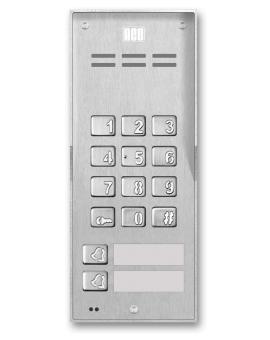 FAM-P-2NPZSACC NT Domofon cyfrowy z zamkiem szyfrowym, czytnikiem breloków oraz 2 przyciskami