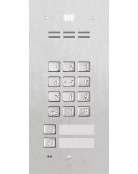 FAM-P-2NPZSACC Domofon cyfrowy z zamkiem szyfrowym, czytnikiem breloków oraz 2 przyciskami