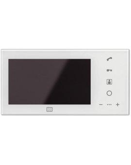 MPRO 7 WH Wideomonitor cyfrowy, głośnomówiący ze szklanym frontem i kolorowym wyświetlaczem 7''